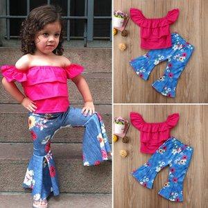 Diseñadores Ropa Niños Niños Niñas Conjuntos de ropa con mangas cortas Niña Niña 2 piezas Conjunto de chándales Infantil Recién nacido