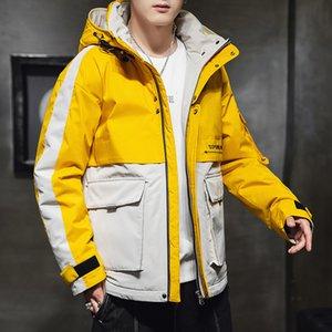 2021 New Winter Warm Jacket Men Casual Sportswear Hooded Coat Youth Outwear Loose Fashion Jackets Men's Clothing Drop Shipping U7yp