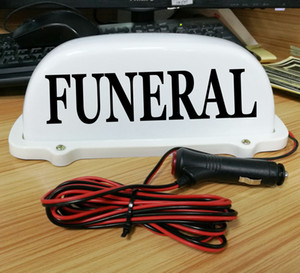 """DC 12V 10"""" FUNERAL Exequy Car Top Sign Light Magnet Auto Burial Obsequies Display Lamp for taxi drivers"""