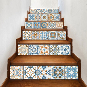 Peel and Stick Tile Backsplash Stair Riser Decals DIY Tile Decals Mexican Traditional Small Talavera Waterproof Home Decor Staircase 713 K2
