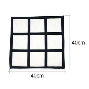 9 panel pillow cover Blank Sublimation Pillow case black grid woven Polyester heat transfer cushion cover throw sofa pillowcases CCB4176