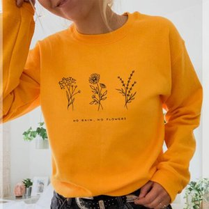 No Rain No Flowers Crewneck Sweatshirt Save The Bees Women Jumpers Top 90s Outfits Spring Casual Hoodies Plus Size Drop Shipping Y0310