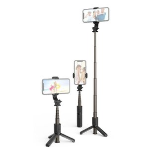 Selfie Monopods Aluminum Alloy Wireless Bluetooth-compatible Stick Expandable Mini Tripod Foldable Handheld Monopod With LED Fill Light