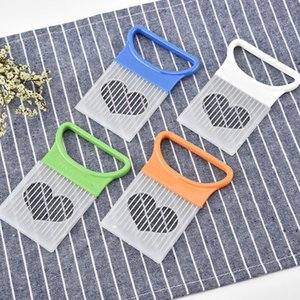 Tomato Vegetable Tools Shredders Slicer Onion Cutting Aid Guide Slicers Cutter Safe Fork Kitchenware Accessories DHF9479