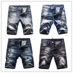 2021 Herren Shorts Gerade Loch Jeans Casual Jeans Blaue Baumwolle Sommer Herrenhose Stil Hip-Hop Pants 3691 Shorts