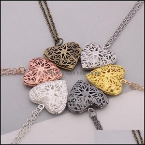 Necklaces & Pendants Jewelrymetal Charms Locket Heart Shape Memory Lockets Floating Po Necklace Love Gift Drop Delivery 2021 Zcznk