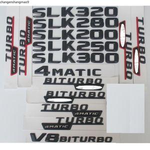 Black Trunk Number Letters Badge sticker Emblems for Mercedes Benz SLK55 SLK63 AMG SLK200 SLK230 SLK300 SLK320 SLK350 4MATIC CDI