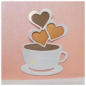 Painting Supplies Coffee Cup Metal Cutting Dies Scrapbooking Embossing Folders For DIY Card Making Craft Stencil Greeting Paper