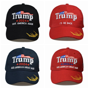 8 styles Newest 2024 Trump Baseball Cap USA Presidential Election TRMUP same style Hat Ambroidered Ponytail Ball Cap sea shipping fLLA388