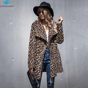 Jaquetas femininas mulheres américa moda primavera outono leopardo peles artificiais único botão penteado casaco feminino casual solto lapela manga longa ja