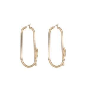 Europe and the United States cold wind simple long temperament is youth, the same Earrings women light luxury gold earrings geometric Earrin