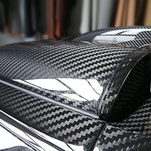 7D Super GloSs из углеродного волокна виниловой пленки Wrap Wrap Bubble Free Air Release 6D