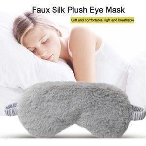 النساء الرجال لطيف بلون النوم قناع العين ناعمة رقيق سميكة أفخم إيشاد اللون مرونة الفرقة ب qylndh