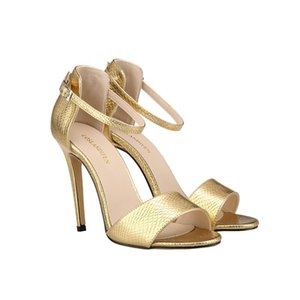 LosLANDIFEN Sexy Fashion Open Toe Tacchi alti Pompe di coccodrillo Donne Estate Dolce Sweet Sweet Casual Leather Party Shoes102-2sey