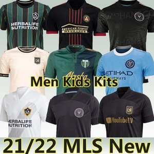 MLS 21/22 Новый футбол Джерси Интер Miami La Galaxy Los Angeles Atlanta United New York Portland Montreal Philadelphia 2021 LAFC Men Kids Kit