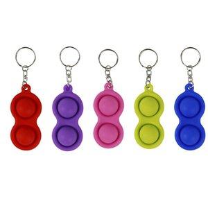 Chaveiros Fidget Simples Dimple Brinquedo Moda Pingente Multicolor Carro Keyring Corrente de Alimentos Grau Silica Gel Ornaments Gift Chaveiro