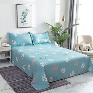 1pcs Bed Sheet +2pcs Covers Hot Sale Bed Sheet 100% Cotton Mattress Protector Cover Flat Soft Sheets