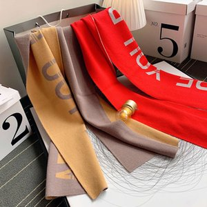 Cashmere like scarf women's autumn and winter double-sided two-color dual-purpose neck thickening warm shoulder knitting versatile long