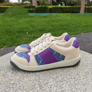 Top Quality Newest Version Dirty Fashion Man Hombre Casual Vestido Casual Zapatos de diseñador Zapatillas de mujer Screener Cuero Real Sneaker