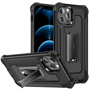 New Arrivals Metal Kickstand Case for Samsung galaxy S21 S21 PLUS Ultra A72 A52 A21s Armor Cover Shockproof Case
