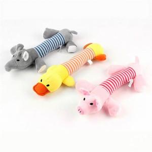 Sosisli Köpek Oyuncak Pet Yavru Peluş Ses Çiğnemek Squeaker Gıcırtılı Domuz Fil Ördek Oyuncaklar 328 V2