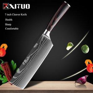 """8 """"zoll japanische küche messer laser damaskus muster kochmesser scharfe santoku cleaver schleif utility messer werkzeug edc neu"""