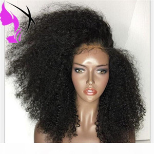 180density Long Black Red Brown Colors Lace Hair Wig Afro Kinky Curly Synthetic Lace Front Wigs For Black Women