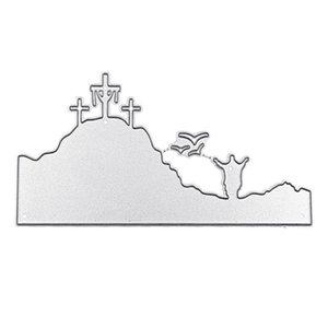 Painting Supplies OOTDTY Easter Cross Metal Cutting Dies Stencil Scrapbooking DIY Stamp Paper Card Embossing Decoration Craft