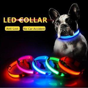 Nylon Night LED Light up Glow in HOt!LED the Dark Small Pet Leash Dog Flashing Safety Collar PH2A