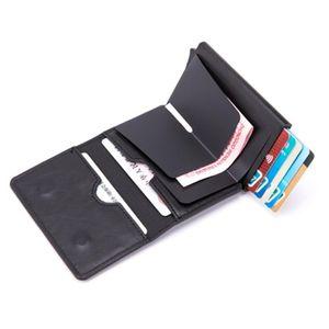 SEMORID Rfid Carbon Fiber Leather Men Wallets Card Holder Money Bags Purses Male Slim Thin Ridge Mini Wallet Walet For Men Gift