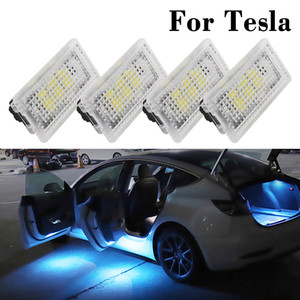 For Tesla Model X S 3 Ambient Light LED Car Door Footwell Atmosphere Interior Decorative Lamp Auto Trunk Lighitng Ultra Bright