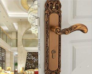 2021 European solid wood door lock high-grade outdoor living room double doors lo ck villa doo r locks mechanical L388