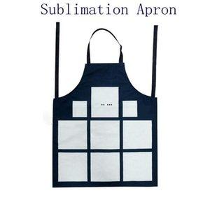 Sublimation 9 Plaid Schürzen Sublimationsrohling Küche Schürze Drucken Öldichte Antifouling Baumwolle Leinen Schürzen Hwd5012