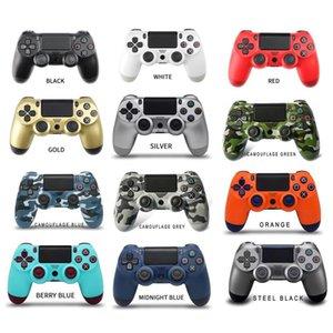 Partihandel på lager PS4 Trådlös kontroller Högkvalitativ Gamepad 15 färger för joystickspel