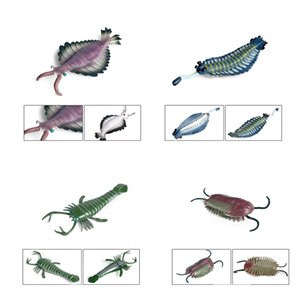 Ancient Marine Animal Figures Toy Science Prehistoric Cambrian Sea Creature Figurines Plastic Educational Ocean Animals Learning Toys for Kids Birthday Gifts