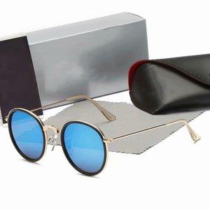 2021 Yeni Klasik Yuvarlak Metal Tarzı Güneş Gözlüğü Erkekler Ve Kadınlar Için Vintage Vintage Marka Tasarım Güneş Gözlüğü Güneş Gözlüğü Siyah Shell 3448