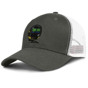 Daft punk army_green mens and womens trucker cap ball design fitted cute hats