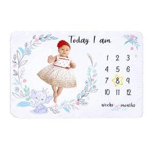 Детские ежемесячные рекордные рост вехи Одеяло новорожденного животного рисунка Photo Photography Photo Photo Creative Фон ткань младенца GIF 210309