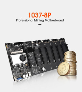 Riserless Material Motherboard 8 GPU Crypto Etherum Mining Suporte 1066/1333 / 1600MHz