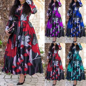 2021 New Women's Dress A-Line Digital Print Dress4HOC