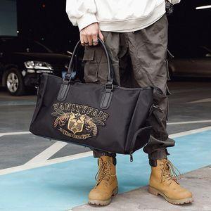 оптом мужская сумка изысканная вышивка сумки на улице фитнес водонепроницаемый оксфорд ткань досуг сумки большая емкость вышивка