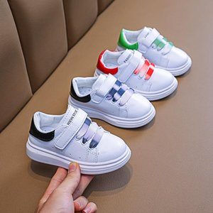 Baby Boys Girls Off Sneakers Toddler Children White Leather Flats Fashion Infant Soft Kids Casual Breathable Walking Tenis