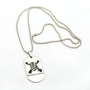 10pcs lot Necklace Skull Dog Tag Pendant Fashion Beads Chain Necklaces Women Men Charm Gifts Jewelry