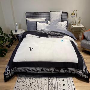 2021 new designer bedding sets comforter cover pattern around spring summer queen size designer bedding 4 pcs set silk modern duvet cover