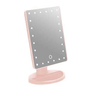 180 Degree Rotation Touch Screen Makeup Mirror Portable Compact Pocket With 24 LED Lights Make Up Tool