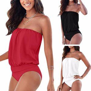 Sexy Frauen trägerlosen Badeanzug Swimwear Monokini Push Up Bikini Beachwear Biquini Badeanzug Frauen Schwimmen Kleidung
