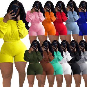 النساء رياضية 2 قطعة ملابس المصممين الملابس 2021 الخفافيش كم أعلى مجموعة زائد حجم النساء الملابس السراويل مجموعة الركض الدعاوى 826