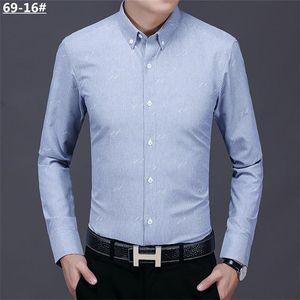 2021 New Luxurys Designers Menswear Casual bussiness Shirts Classic Men Dress Shirt Men's Long Sleeve Brand New Fashion Spring Shirts #03