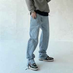 Mavi Siyah Yeni Stil erkek Sıkıntılı Yıkılan Pantolon Beyaz Yamalar Skinny Biker Kot Ince Pantolon 2021ss