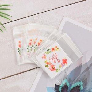 100 pcs Flor Padrão Cookie Embalagem Baggift Doces Sacos Para Biscoitos Snack Packing Package Wedding Gift Bag